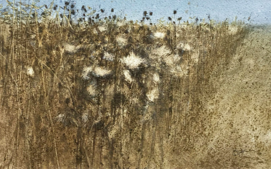 'The Autumn Thistledown' David E Johnson RSW Watercolour 27x17cm £475
