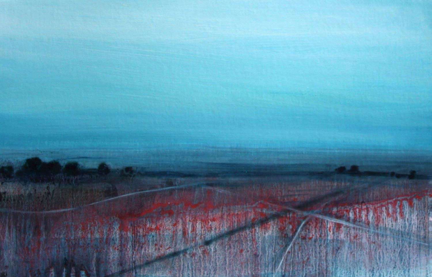 'Quieting Lands 2' Siobhan O'Hehir Oil on card 30x20cm £455