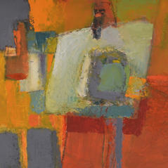 'Studio Table' Andrea Elles Oil on board 52x38cm £1200