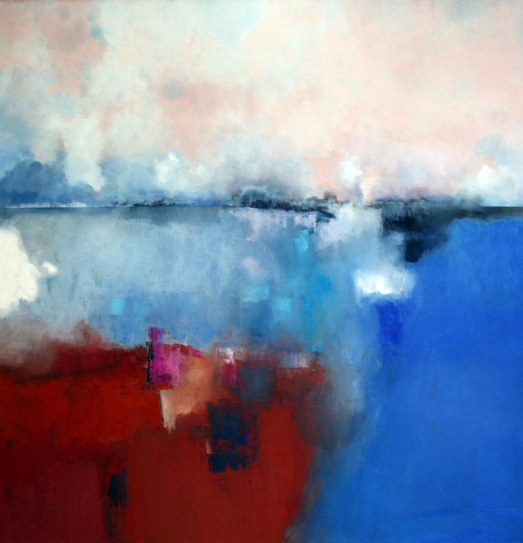 'The Dividing Line 2' Siobhan O'Hehir Oil on Canvas   100x100cm *SOLD*
