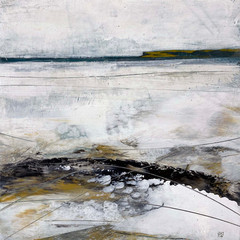 'Down by the Water'  Morag Smith  Acrylic on Card  20 x 21cm  *SOLD*