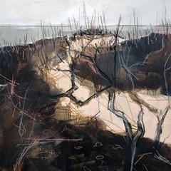 'Winter Dunes study 2'  Jo McIntosh  Mixed Media on paper  56 x 59cm  £290