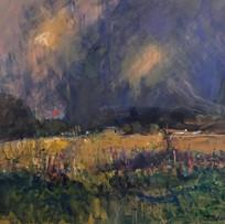 'Dark Sky' Andy Cross Oil on Board 61x61cm *SOLD*