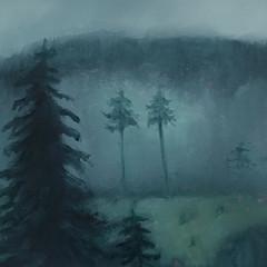 'Morning Mist'  Lorraine Taylor  Oil on paper  40 x 45cm  £315