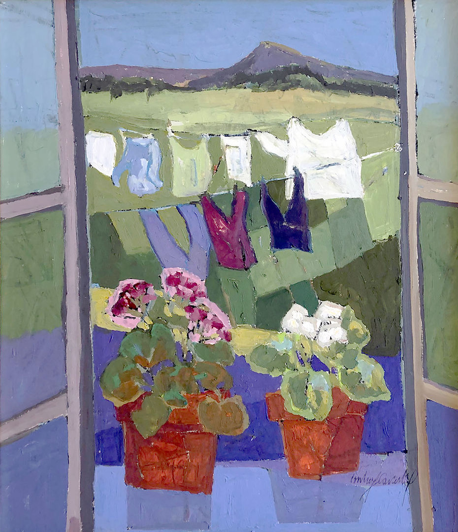 'Washing Day' Catherine Imhof Cardinal Oil on Board 53x60cm £860