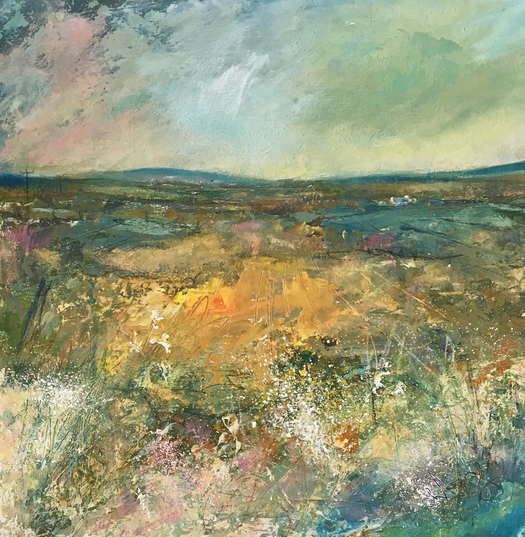 'Wild Flowers & Empty Spaces'  Morag Stevenson Oil on Board