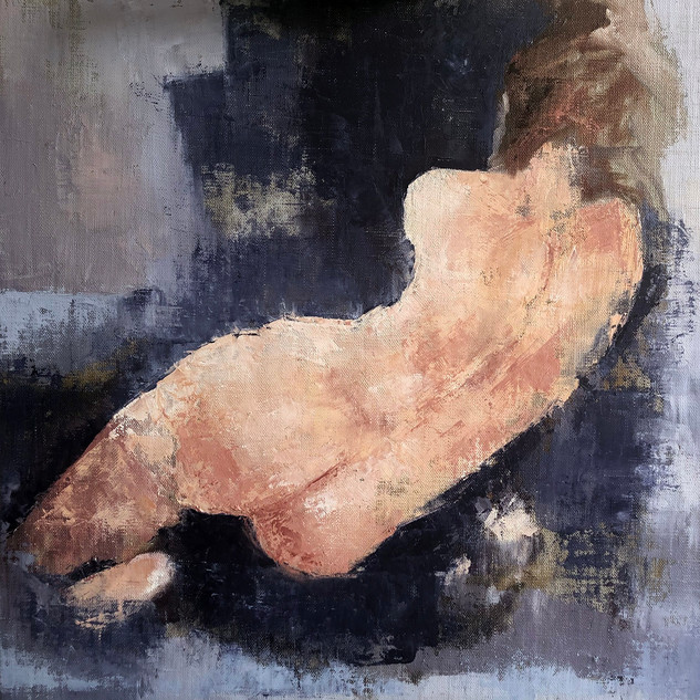 'Just A Touch' Victoria Broxton Oil and Cold Wax on Linen Board 40x40cm £1200