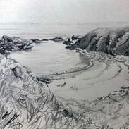 'The Muckle Shore, Findon' Morag Stevens