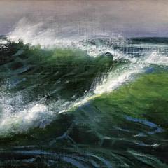 'Wave Study 1' Hilary Gauci  Oil on linen board  20 x 15cm    *SOLD*