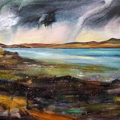 'My Tiny Dancers on Skye' Morag Stevenson  Mixed media on board  58 x 30cm  £850