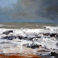 'Storm Brewing'  Frances Innes  Acrylic on panel 20 x 30cm   £380