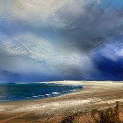 'Nairn Beach'  Shazia Mahmood Oil on canvas 61 x 92cm £1200