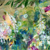 'Summer Garden with Soft Light' Ann Oram RSW Watercolour  76x66cm  £3950