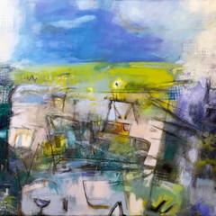 'Harbour' Helen Bruce Acrylic on canvas    150 x 100cm  £1200