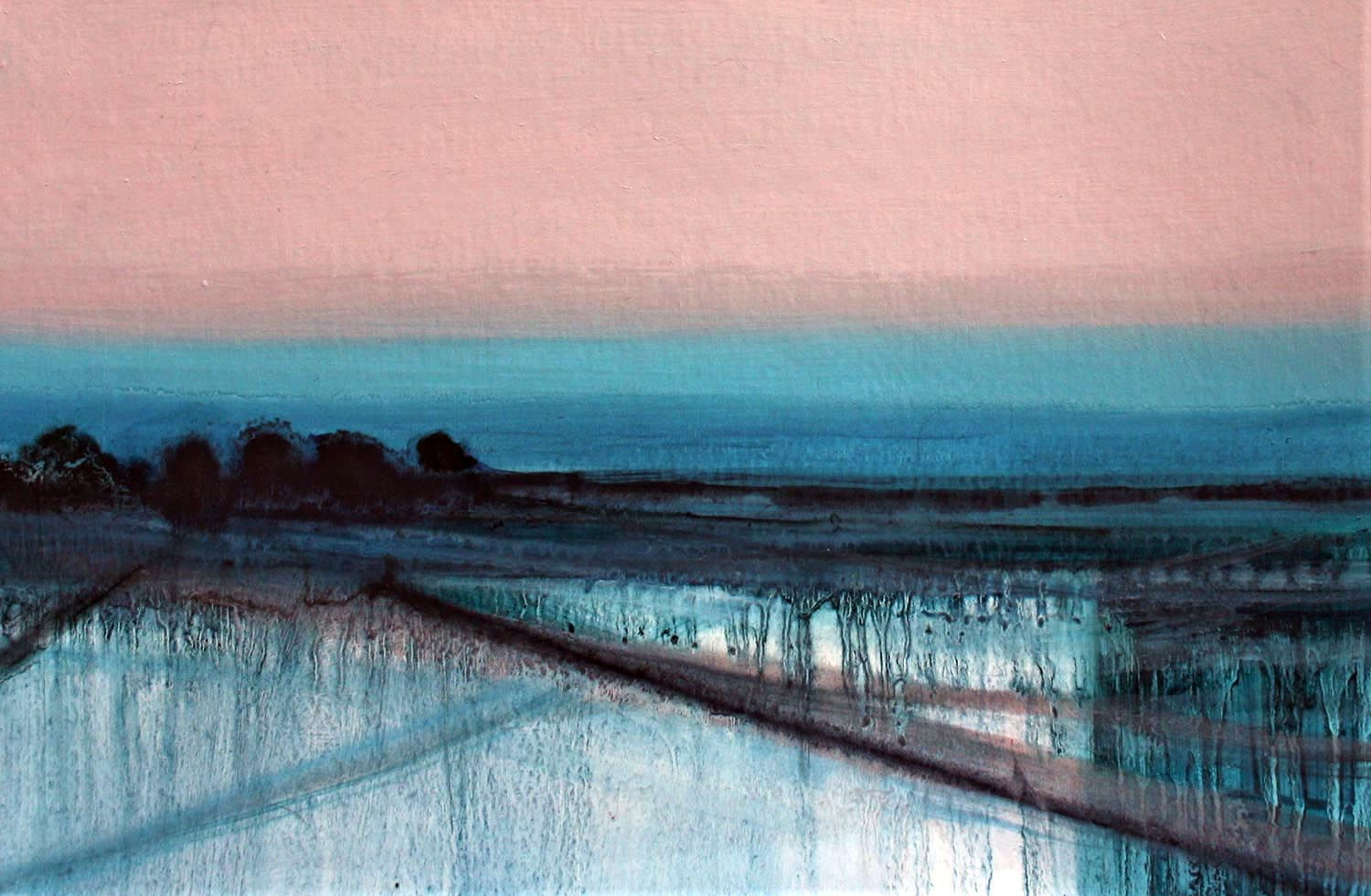 'Quieting Lands 1'   Siobhan O'Hehir Oil on card   30x20cm £455