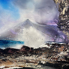 'Elgol'  Shazia Mahmood Oil on canvas 77 x 101cm  £2500
