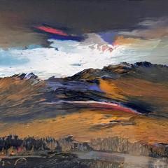'Assynt Wilderness'  Peter Goodfellow Oil on linen board   25 x 18cm  £775