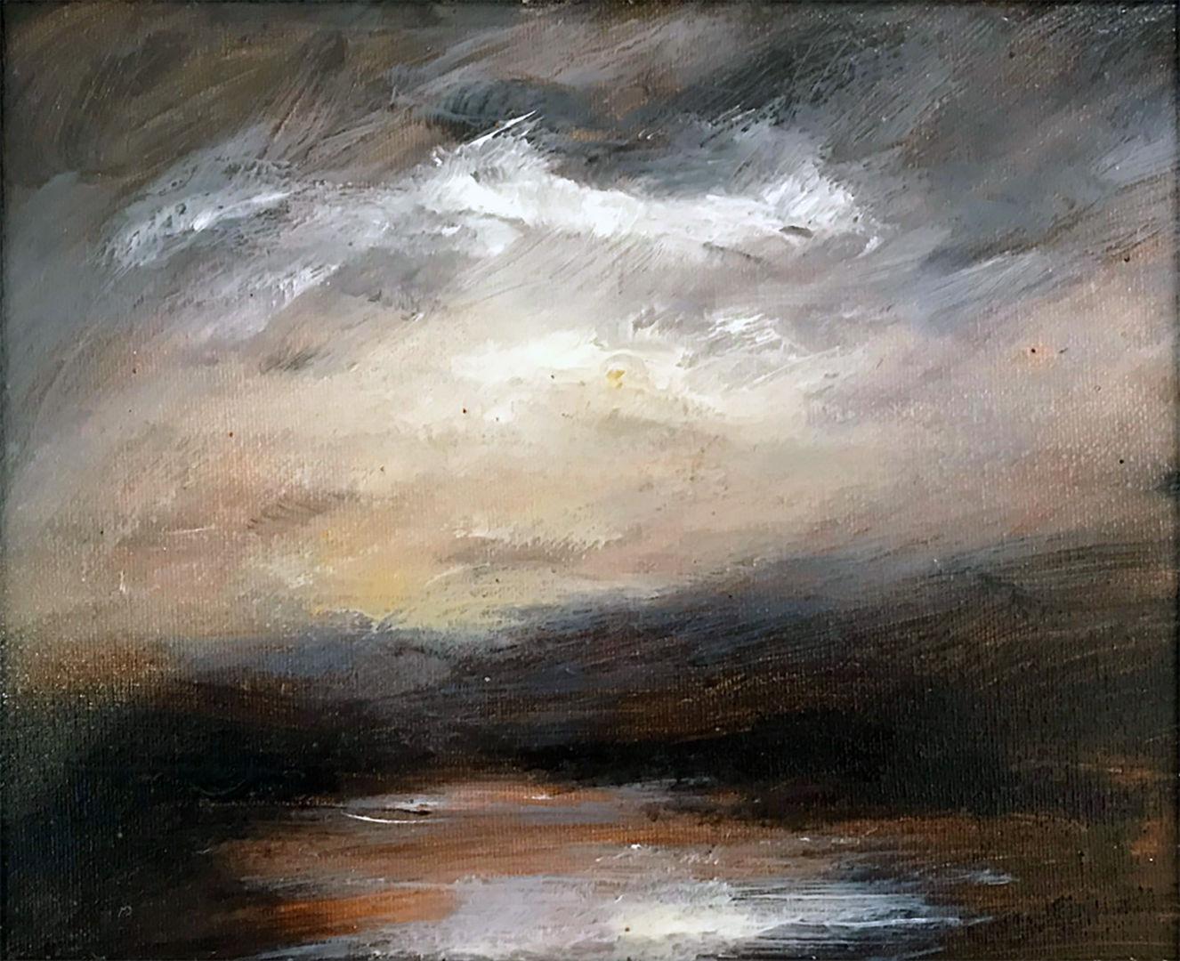 'Early Light Winter'  Ian Sheilds Oil on Canvas  25x20cm  £350