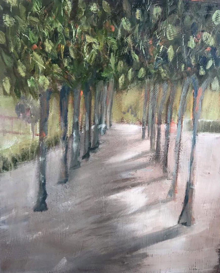 'Avenue of Shadows' Lorraine Taylor Oil on Paper
