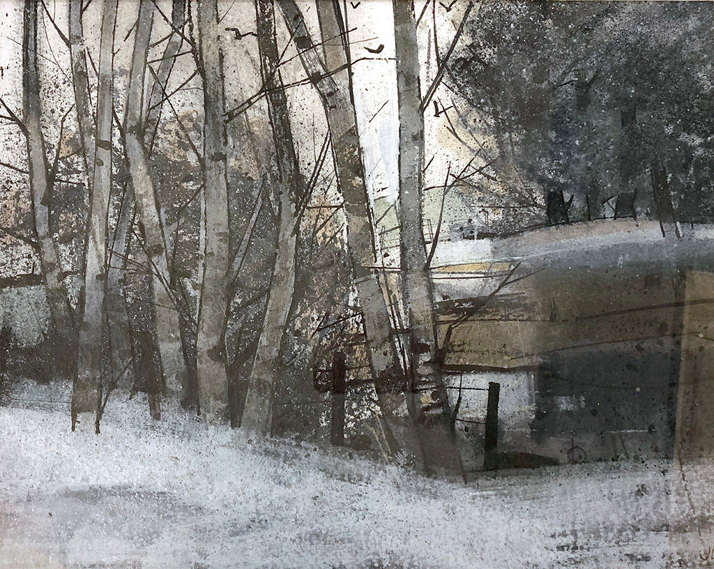 'Winter Pond' Jim Livingston Oil on Paper *SOLD*