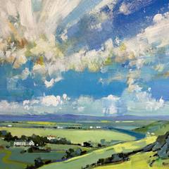 'Summerscape'  Ken Roberts  Acrylic on board  80.5 x 70cm £1300