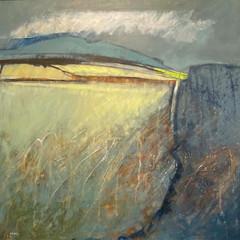 'Sunlit Field' Georgie Young  Acrylic on board  68.5 x 68.5cm  £2100