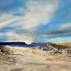 'Camusdarach Beach' Shazia Mahmoud Oil on canvas 77 x 122cm £3000