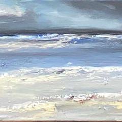 'Coastal Series, St Cyrus'   Gundra Nock  Oil on Canvas  1021 x 41cm  £2200