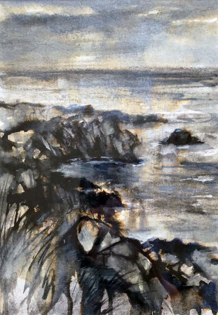 'Cove II' Mary Louise Butterworth Ink and Acrylic Sketch 18x25cm £250