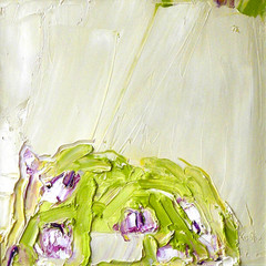 'Tulips After Rain' Alison McWhirter Oil on linen    40 x 40cm   £1990