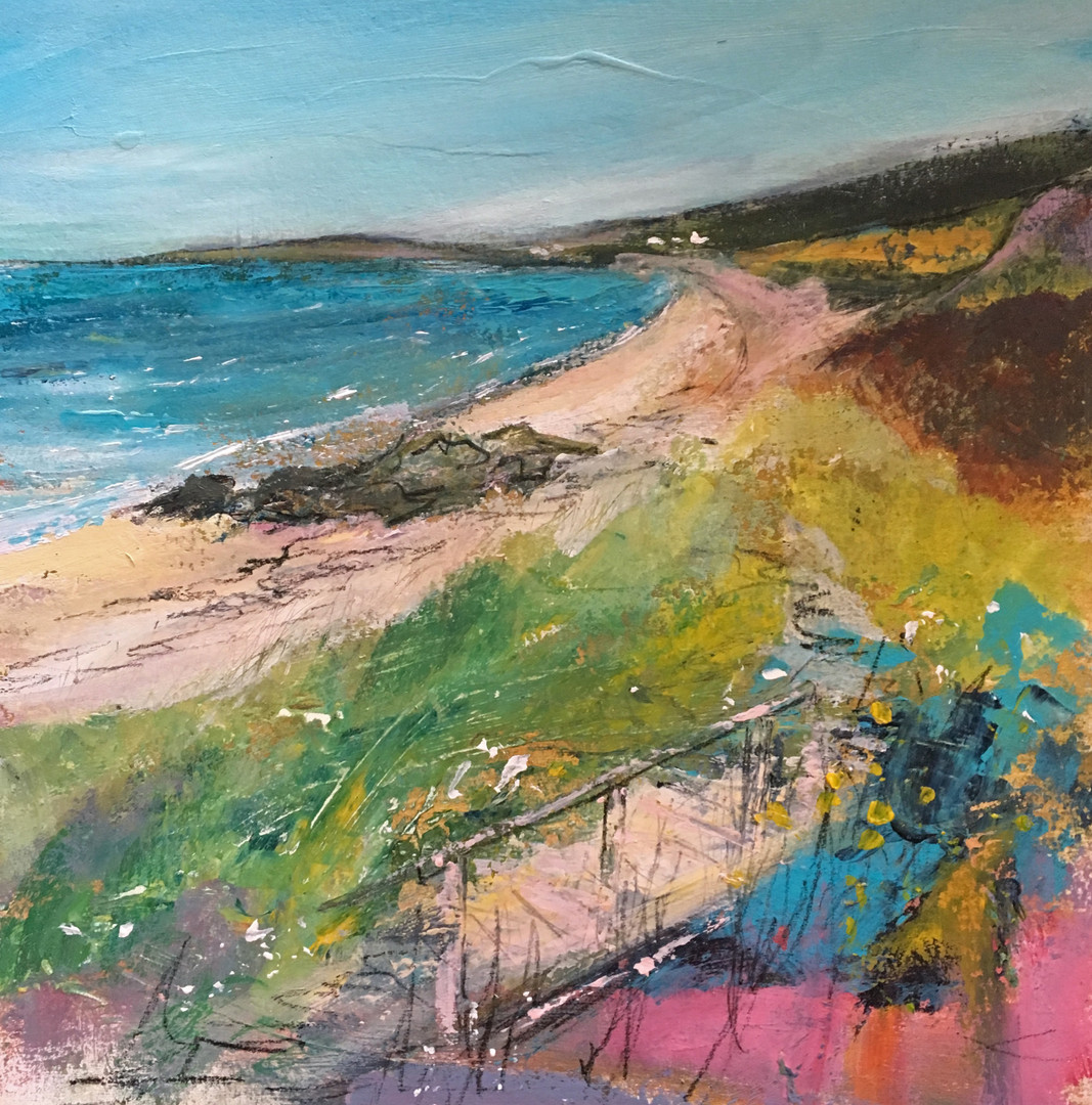 'Pathway to the Shore' Morag Stevenson Oil on Board
