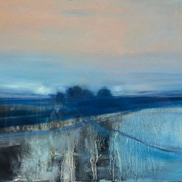 'Quieting Lands 3'   Siobhan O'Hehir Oil on mount card 29x21cm *SOLD*