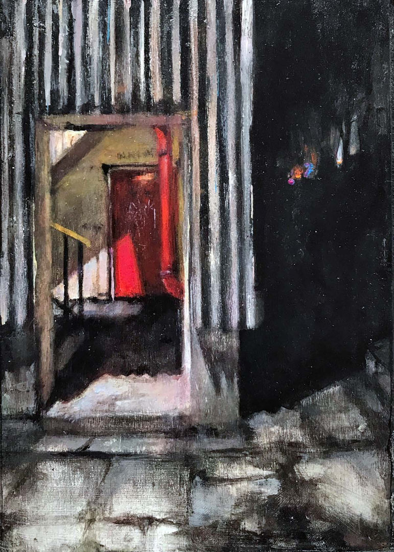 'No Way Out' Mary Louise Butterworth Acrylic on Panel 13x18cm £550