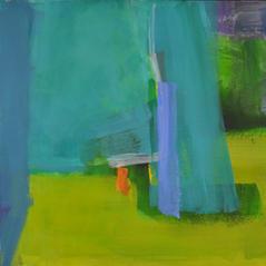 'Garden Room' Andrea Elles Acrylic on board 76x71cm £1900