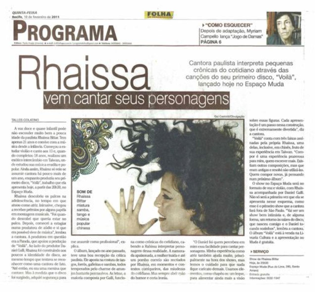 2011 - Folha de Pernambuco
