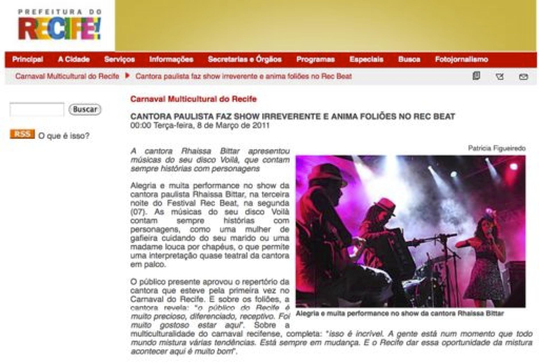 2011 - Recife website