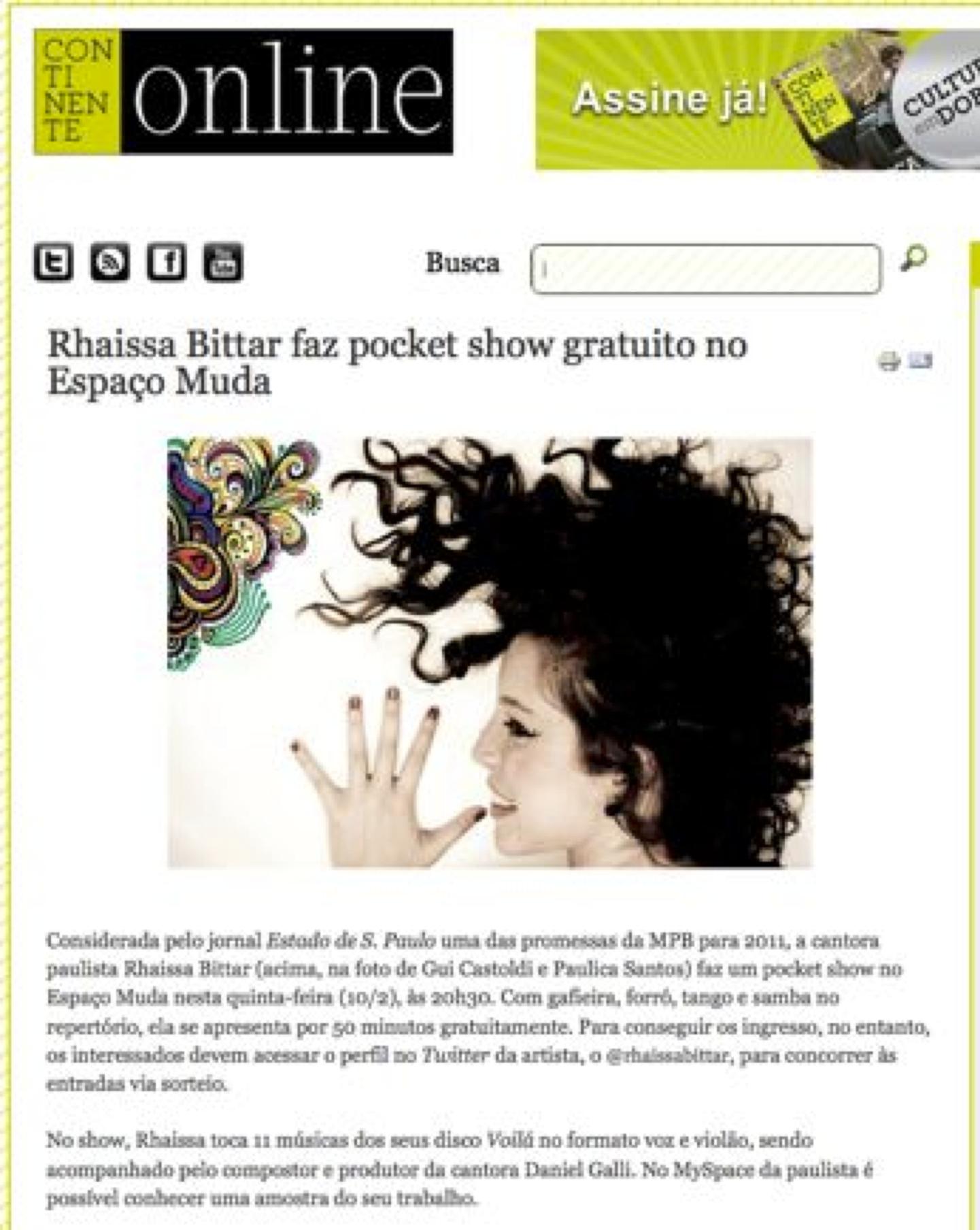 2011 - Revista Continente Online