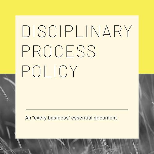 Disciplinary Process