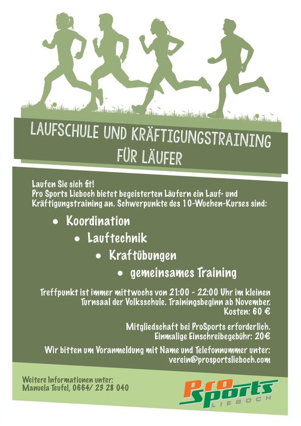 Laufschule und Kräftigungstraining für Läufer