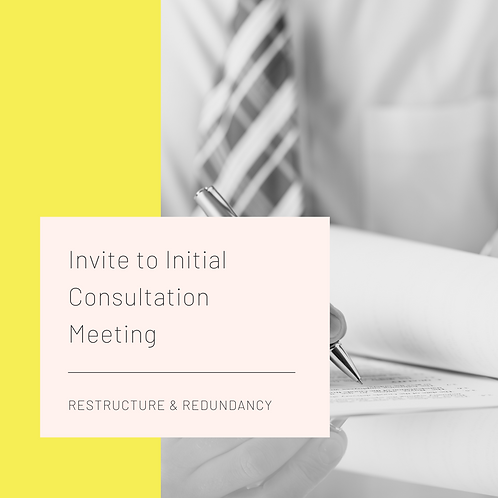 Restructure - Invite to Consultation (First Meeting)