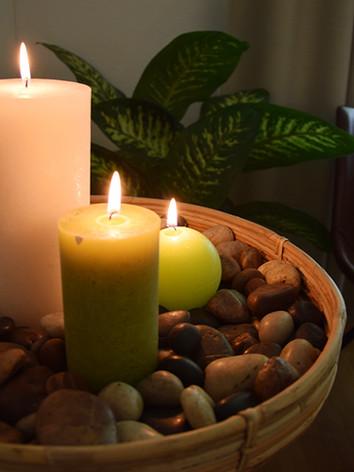 Massage in stimmungsvoller Umgebung