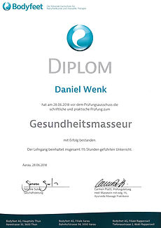 Diplom Gesundheitsmasseur Bodyfeet AG