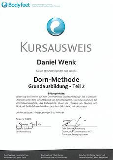 Kursausweis Dorn-Methode 2 Bodyfeet AG