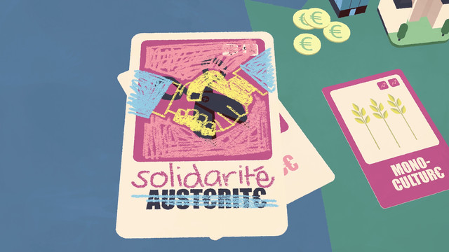 L'équipe Solidarité a gribouillé sur la carte Austérité