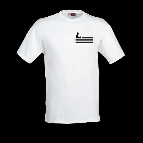 White Logo T-Shirt (Black Flag)