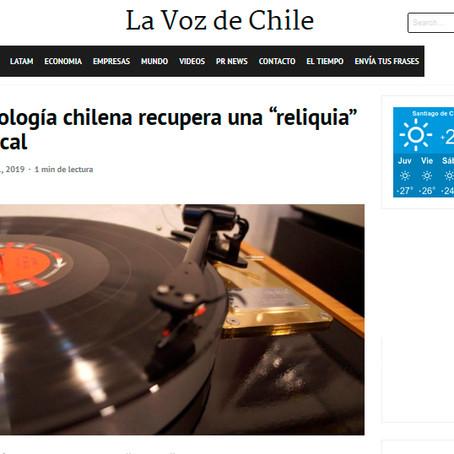 """La Voz de Chile: Tecnología chilena recupera una """"reliquia musical"""""""