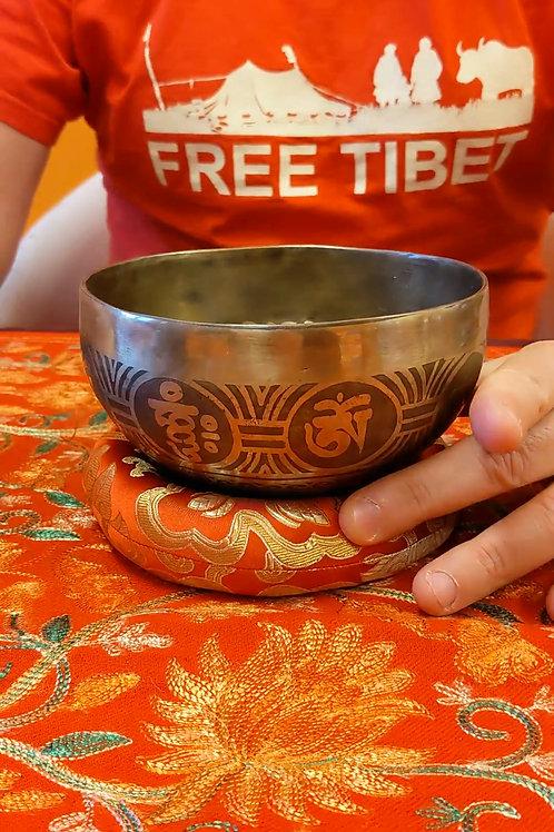 Campana tibetana incisa 14.5Cm - CT37