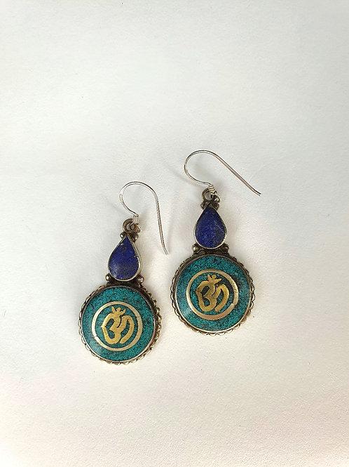 Orecchini tibetani Blu e Turchese