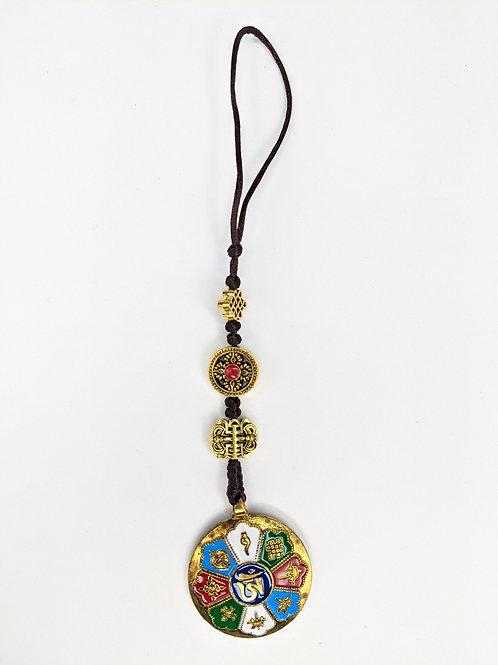 Portafortuna Fior di Loto Colorato con Otto Simboli Tibetani di Buon Auspicio