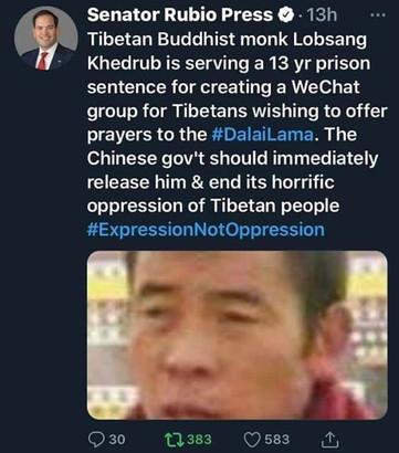 13 anni di prigione per aver creato un gruppo composto da monaci su WeChat